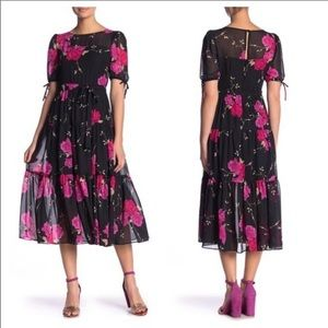 Betsy Johnson Chiffon Floral Maxi Dress